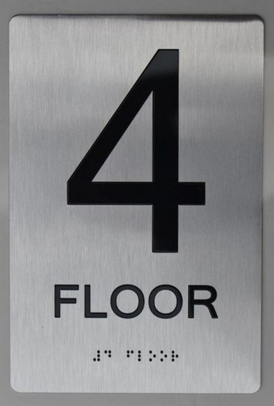 4th FLOOR ADA Sign -Tactile Signs