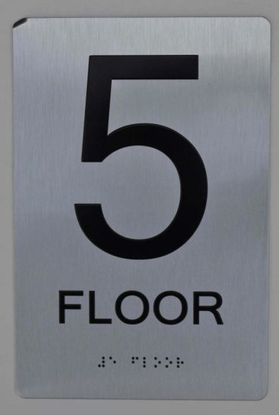 5th FLOOR ADA Sign -Tactile Signs