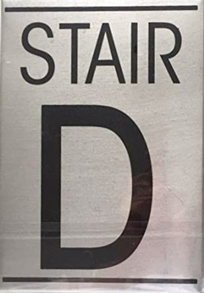 SIGNS FLOOR NUMBER SIGN - STAIR D