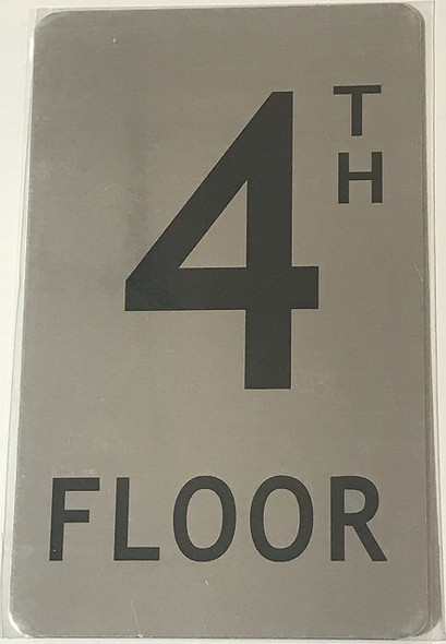 SIGNS FLOOR NUMBER SIGN- 4TH FLOOR SIGN-