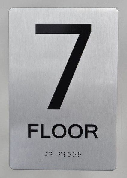 SIGNS 7th FLOOR ADA Sign -Tactile Signs