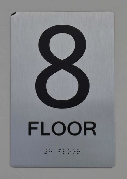 8th FLOOR ADA Sign -Tactile Signs