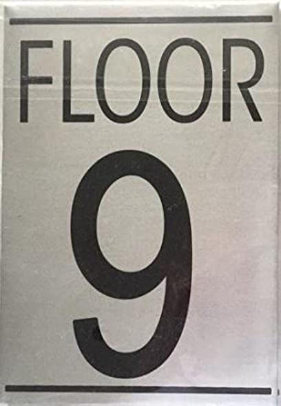 FLOOR NUMBER NINE (9) SIGN -
