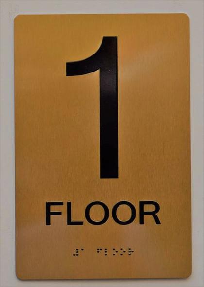 SIGNS 1ST FLOOR SIGN ADA