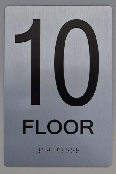 10th FLOOR ADA Sign -Tactile Signs