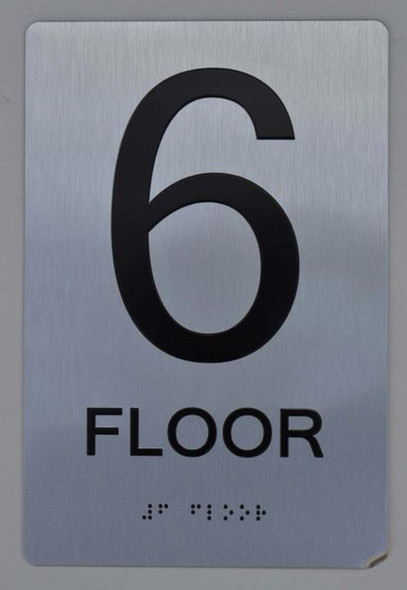 6th FLOOR ADA Sign -Tactile Signs