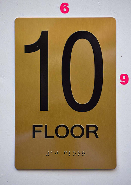 SIGNS 10th FLOOR Sign -Tactile Signs Tactile