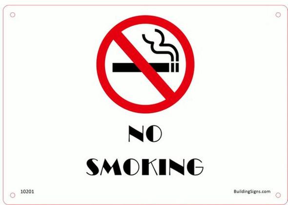 No Smoking (Aluminum Sign) (ALUMINUM SIGNS