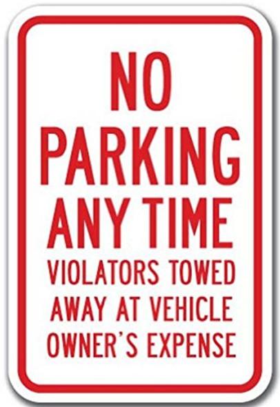 NO PARKING VIOLATORS WILL BE TOWED