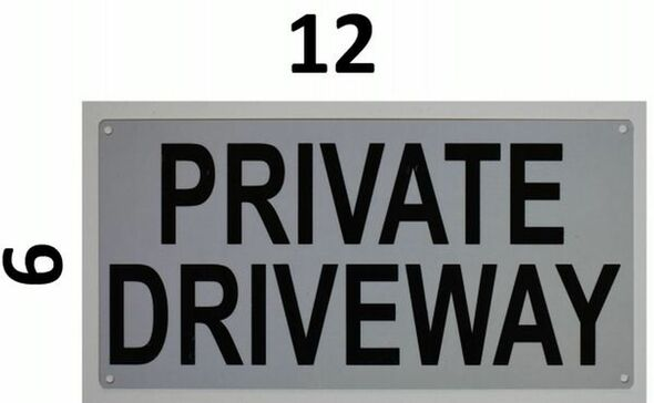 SIGNS PRIVATE DRIVEWAY SIGN- WHITE (ALUMINUM SIGNS