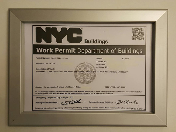 DOB Permit Frame -Heavy duty (PERMIT