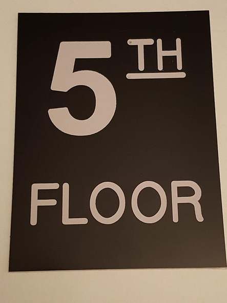 SIGNS Floor number Five (5) sign Engraved