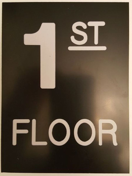 SIGNS Floor number one (1) sign Engraved