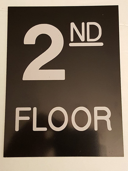 SIGNS Floor number two (2) sign Engraved