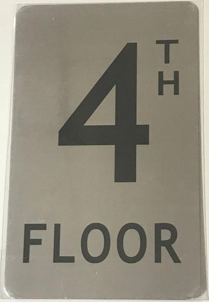 FLOOR NUMBER SIGN- 4TH FLOOR SIGN-
