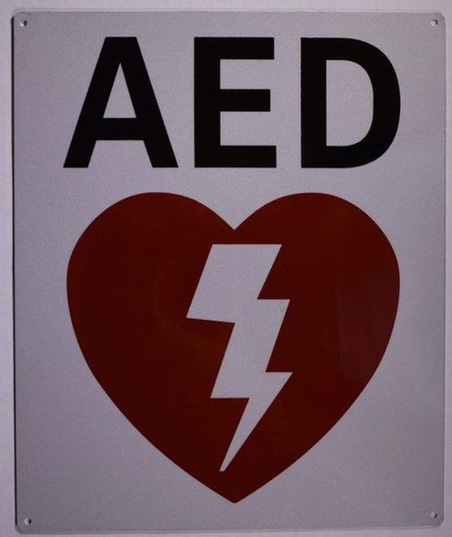 SIGNS AED SIGN- AUTOMATED EXTERNAL DEFIBRILLATOR INSIDE