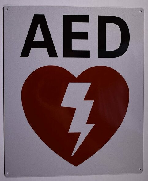 SIGNS AED SIGN- AUTOMATED EXTERNAL DEFIBRILLATOR SIGN