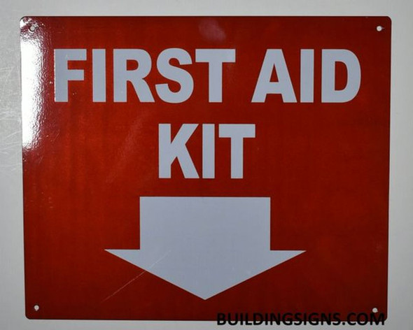 SIGNS FIRST AID KIT SIGN- Reflective !!!