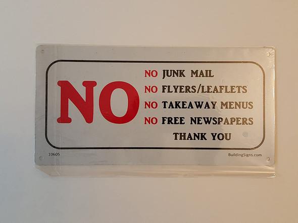 SIGNS No Junk Mail Sign (Aluminum Signs