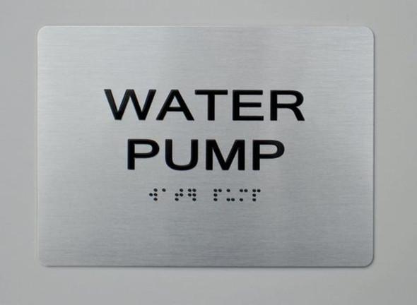 SIGNS WATER PUMP ADA Sign -Tactile Signs