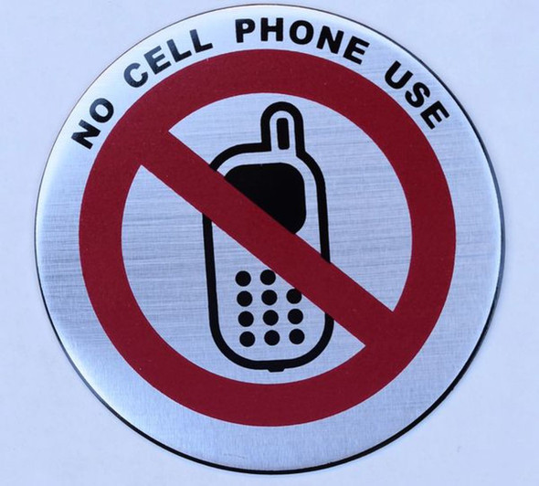 SIGNS NO CELL PHONE USE SIGN (ROUND