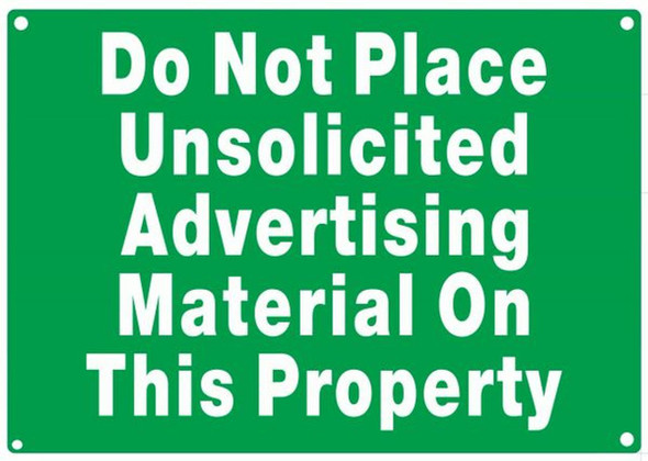 DO NOT PLACE UNSOLICITED ADVERTISING MATERIAL