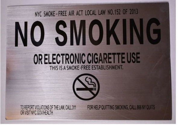 SIGNS NO SMOKING OR ELECTRONIC CIGARETTE USE