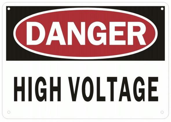 DANGER HIGH VOLTAGE SIGN (ALUMINUM SIGNS