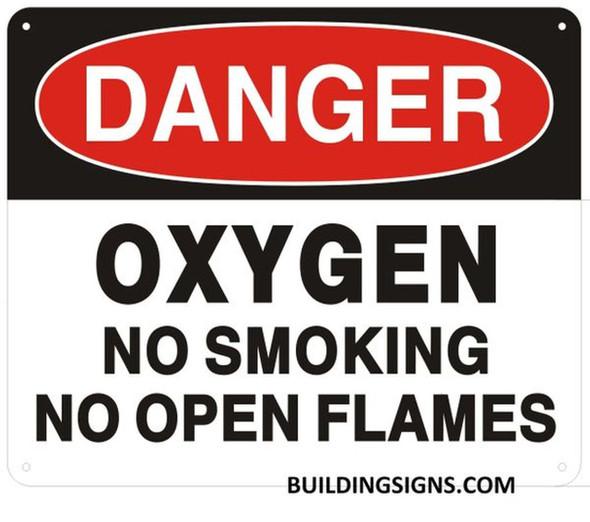 DANGER OXYGEN NO SMOKING NO OPEN