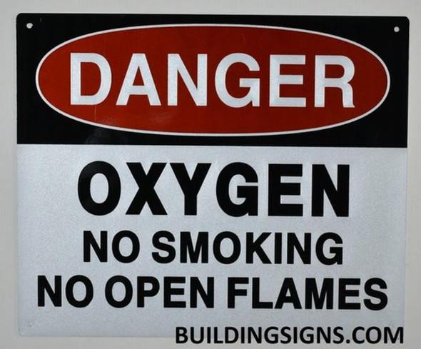 SIGNS DANGER OXYGEN NO SMOKING NO OPEN