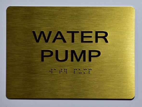 WATER PUMP Sign -Tactile Signs Tactile