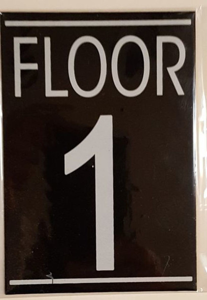 FLOOR NUMBER ONE (1) SIGN -