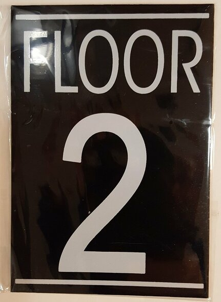 FLOOR NUMBER TWO (2) SIGN -