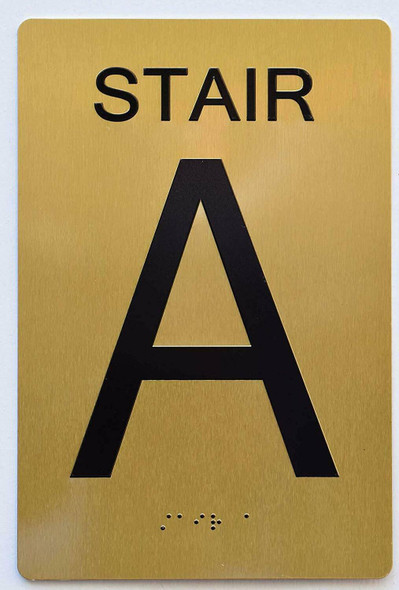 SIGNS STAIR A SIGN 6X9 Tactile Signs