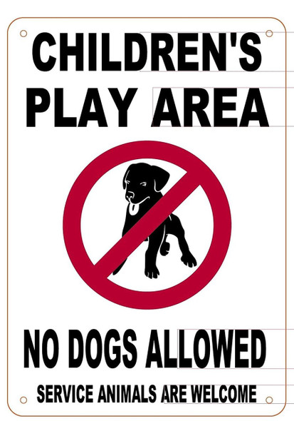 CHILDREN'S PLAY AREA SIGN- NO DOGS