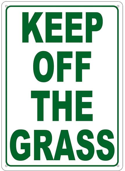 KEEP OFF THE GRASS SIGN (ALUMINUM