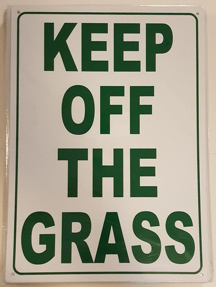 SIGNS KEEP OFF THE GRASS SIGN (ALUMINUM