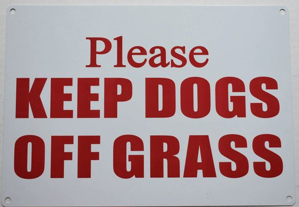 SIGNS PLEASE KEEP DOGS OFF GRASS SIGN