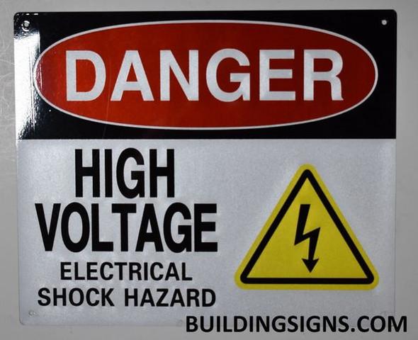 SIGNS DANGER HIGH VOLTAGE ELECTRICAL SHOCK HAZARD