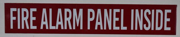 SIGNS Fire Alarm Panel Inside Sign (RED,Double
