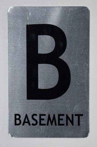 SIGNS Basement Sign (Brush Aluminium, 5X8)-The Mont