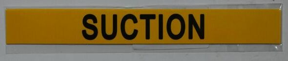 SIGNS SUCTION SIGN (STICKER 1x8) YELLOW-(ref062020)