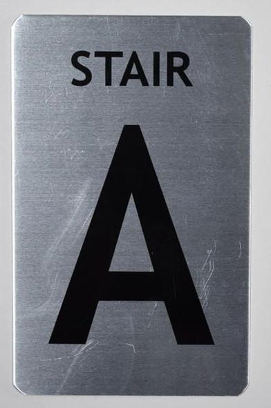 Stair A Sign (Brush Aluminium, 5X8)-The