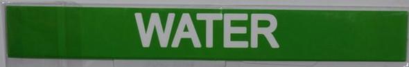SIGNS WATER SIGN (STICKER 1X8) (GREEN)-(ref062020)