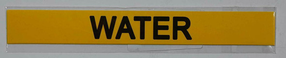 SIGNS WATER SIGN (STICKER 1X8) (YELLOW)-(ref062020)