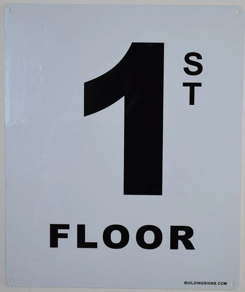 SIGNS 1ST Floor Sign (White, Rust Free