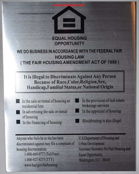 SIGNS EQUAL OPPORTUNITY OPPORTUNITY SIGN – Silver