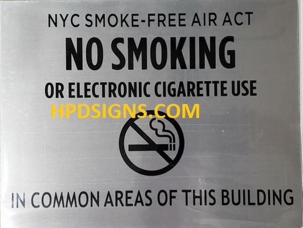 "NYC Smoke free Act Sign ""No"