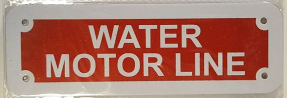 SIGNS WATER MOTOR LINE SIGN- REFLECTIVE !!!