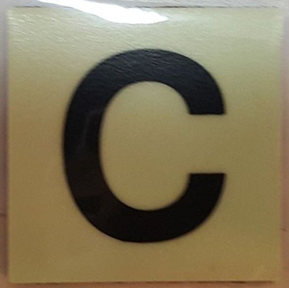 SIGNS PHOTOLUMINESCENT DOOR IDENTIFICATION NUMBER C SIGN